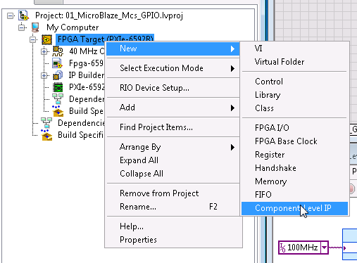 How to Use the Microblaze Micro Controller System from LabVIEW
